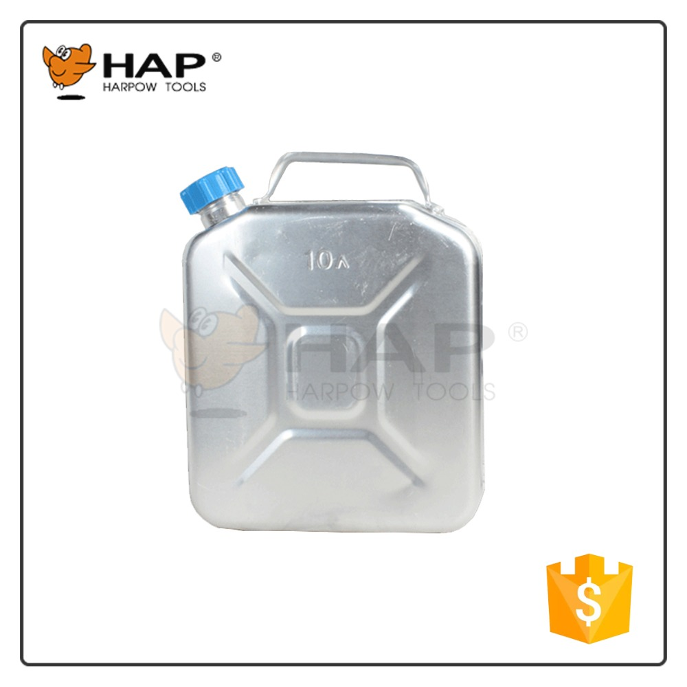 10 Liter aluminium jerry can automotive gas can with holder