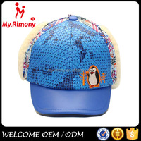 polyester lovely winter hat sport cap with ear flap