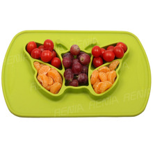 RENJIA baby placemat mat bowl portion pack silicone placemat for <strong>kids</strong>