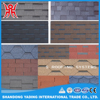 Blue Lightweight Asphalt Roof Shingles Plain Roof Sheets For Wooden Shingles
