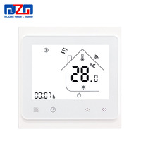 MJZM 16A-002BB-WiFi Electrical Underfloor Heating Thermostat Controlled by Alexa Google Home Smart Room Thermoregulators White