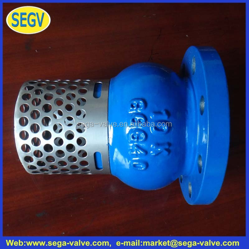 ductile cast iron foot valve with strainer