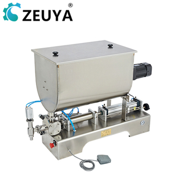 300-3000ml double filling nozzles fruit jam ground coffee filling machine for creams pastes