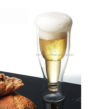 Double Wall Creative Upside Nice Handmade World Cup Beer Glass