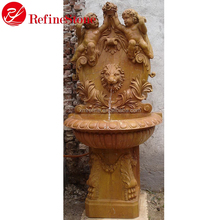 Garden decoration stone fountain water wall,natural stone water fountain bases