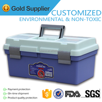 Hot sale! Plastic Multifunctional Storage Box and Bin with a tray inside HB-635