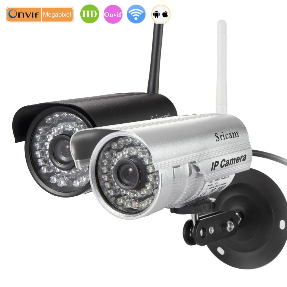 Sricam SP013 Bullet Waterproof outdoor use spy cam 720p IP Wifi wireless Camera p2p nightvision house securtiy protection