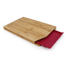 Bamboo Cutting Board with groove and Tray bamboo chopping block