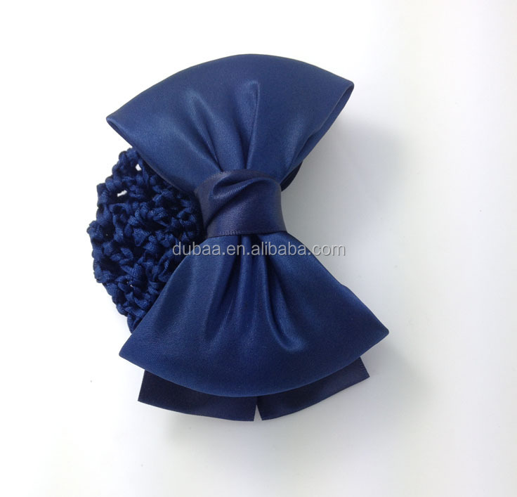 Simple Bowknot Barrette Hair Clip with Snood Net Hair Bun, Hair Net Clip Bow Knot Snood Net Bun Hair Cover Accessories Dubaa