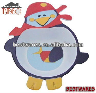 melamine bird shape bowl