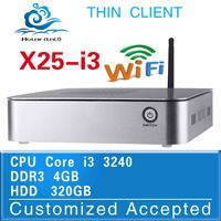 New arrival!! X25-I3 core I3 4g ram 500g HDD thin client linux car pc zero client Support Audio, video videoconference
