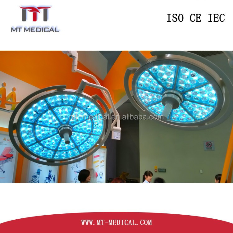 Double Arm LED hospital operating theatre light led surgical lamp surgical shadowless lamp manufacturer