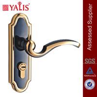 Small Door Handle Copper Mortise Cylinder Cylindrical Door Knob Lock