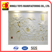 Chinese Manufacture carving imitate panel European Hard PU 3d wall paper wall panel