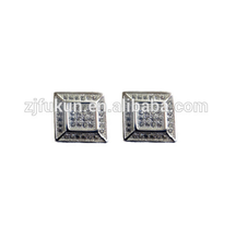 hot sale square shape crystals rhinestones stud earrings
