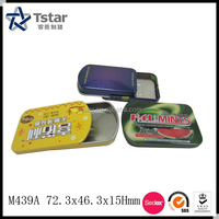 Metal Sliding Lid Mints Tin Box