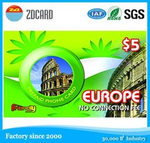 best quality art paper ip/voip calling card