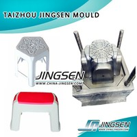 Plastic chair and table mold making using injection mold tooling hot runners and air ejector mold injection