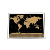 Low MOQ Custom Design Gold Foil Layer Black World Scratch Off Map For Travel