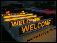 LANPAI High Brigtness Led Car/Bus Sign Programmable By RS232/USB Flash/GSM?GPRS Customized Led Display Board