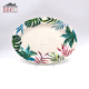 Wholesale Oval Melamine Dinner Plate With Decal