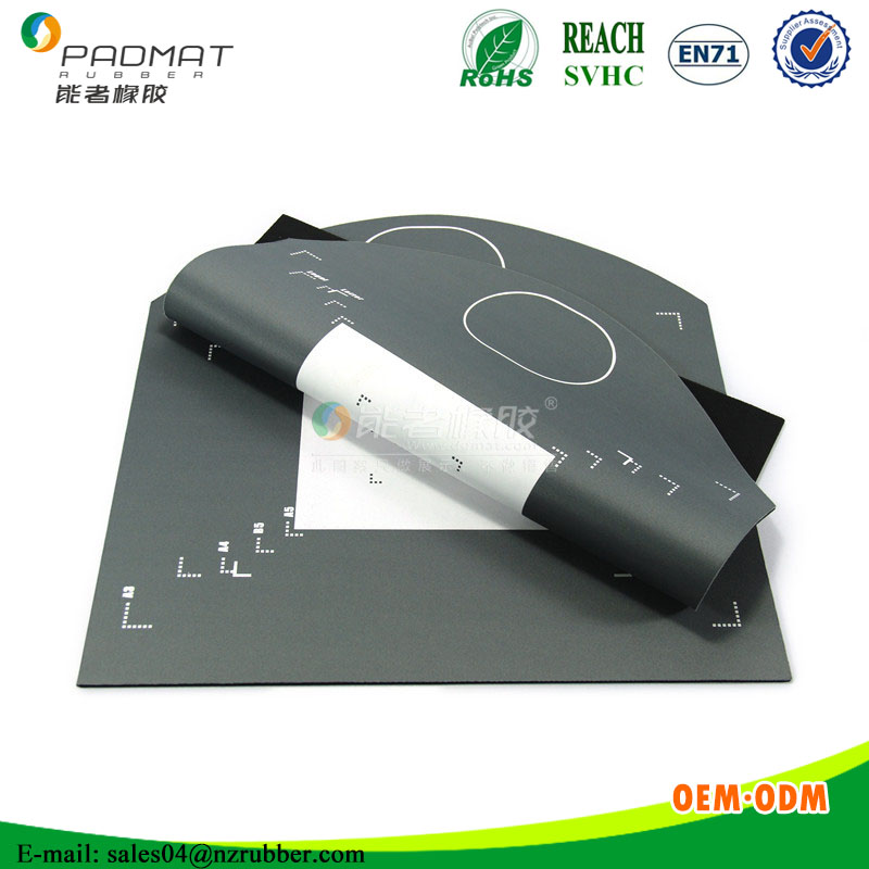 CMYK printed rubber foam positioning placemat/positioning mat
