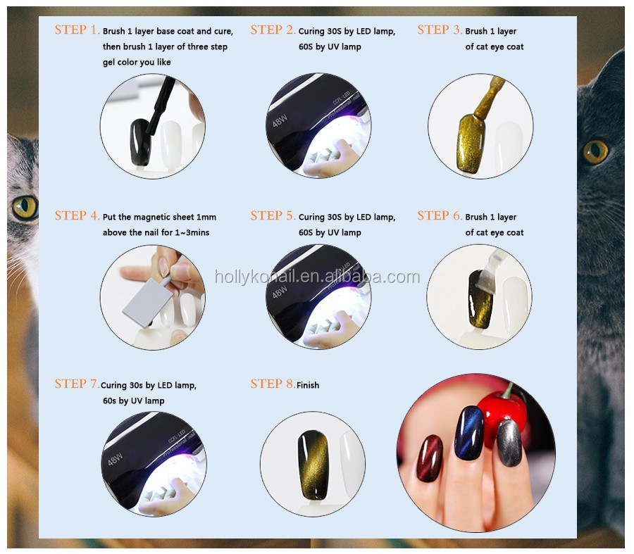 Factory Wholesale Newest Cat Eye Gel Polish Nail Gel Polish