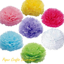 Wholesale Round Handmade Tissue Paper Pom Pom Flower Balls For Wedding Party Decor