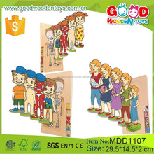 Grow Up Puzzle 3 Different Designs Puzzle 4 Layers Wooden Educational Kids Early Learning Toys Wooden Jigsaw Puzzle
