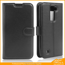 Popular Flip Leather Wallet Phone Case For LG K8 , Mobile Pu phone case For LG K8 Cover
