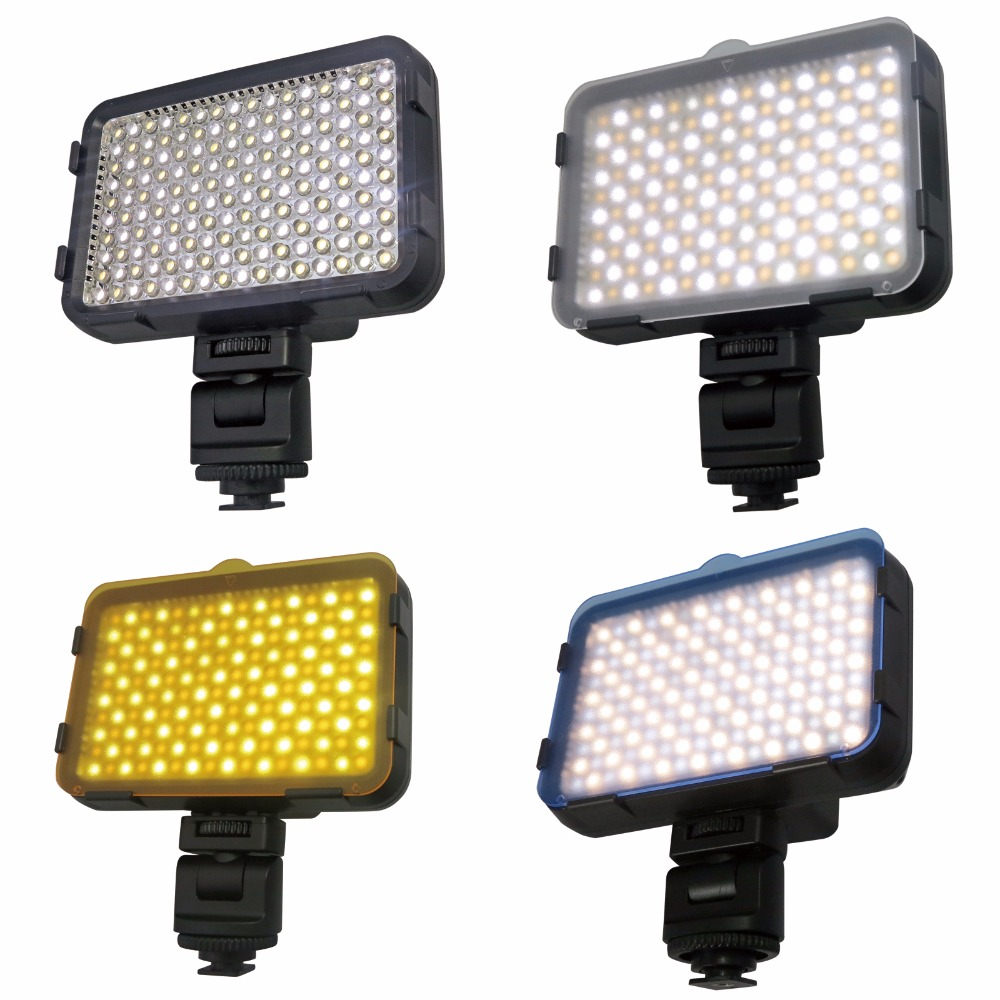 SHOOT XT-160 II photographic camera LED Light white&yellow <strong>bulbs</strong> for dslr Camera DV Camcorder