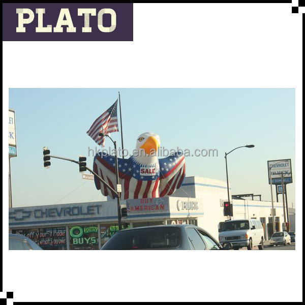 American Flag clothing giant inflatabl bald eagle model