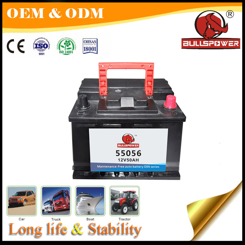 High performance-car battery 12v 50ah,car battery price in Spain