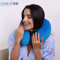 Adult age groupe carry bag memory foam foldable u pillow