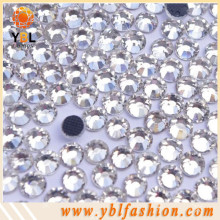 Decorative clear hotfix flatback rhinestones clothing