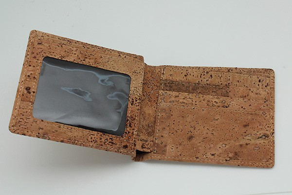 Men' s Wallet Made from Cork, Vegetarian Wallet, Promation gift