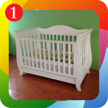 Modern Baby Cot crib white with drawer toddler bed & ChangeTable