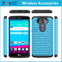 Wholesale Bling Diamond Padded Hybrid Dual Layer 2 In 1 Silicone + PC Mobile Phone Cases For LG Nexus 5X