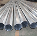 galvanized power distribution conical steel tubular pole for distribution