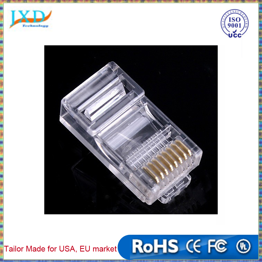 New RJ45 / Pack RJ-45 CAT5 Modular Plug Network Connector Networking Adapter