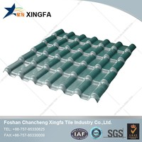 Raw Material For Corrugated Roofing Sheet Plastic Synthetic Spanish Roof Tile