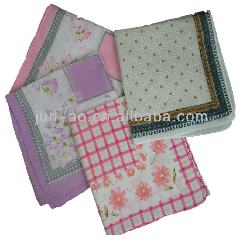 beautiful cotton handkerchief for ladies