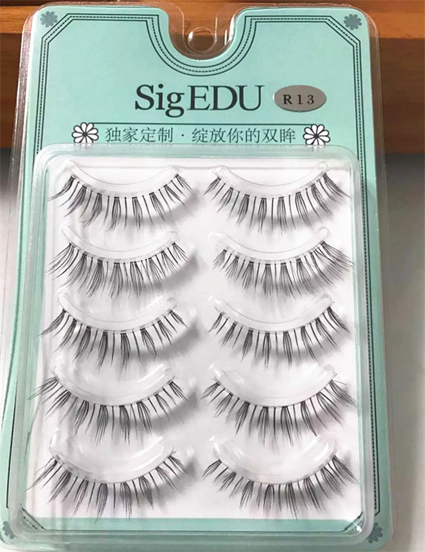 5 pairs/pack strip silk eyelashes private label 3d silk lashes