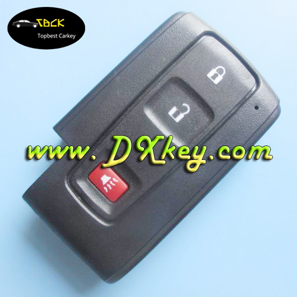 Best Price 2+1 buttons car remote shell without emergency key blade for toyota key toyota prius key