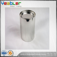 Cylindrical metal tin can for PVC adhesive