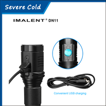 2016 Newest IMALENT DN11 USB Charge Flashlight LED 1CREE XPL HI 1000 Lumen Smart Touch Screen LCD LED Flashlight+18650 Battery