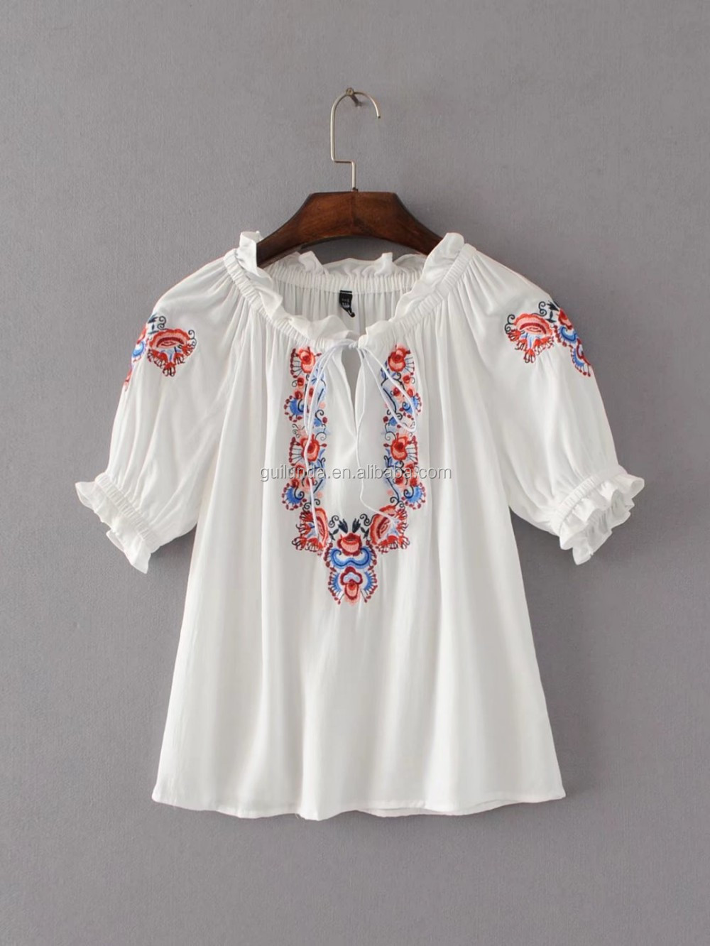 China supplier summer woman clothing perfect rayon blouse