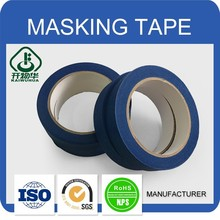 Wholesale Custom Printed blue crepe paper roll adhesive masking tape