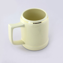 16oz large beige gold rim oem mug ceramic fine beer cup factory prices night club party beer fashion tall promotional mug