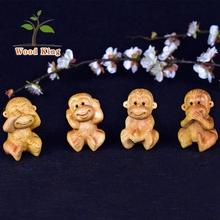 Cedar Pure Manual Wood Carving Wholesale Car Furnishing Gift Decoration Pieces Monkey Handmade Craft